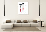 Beauty Brushes Wall Art Print on the wall