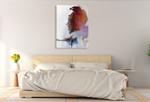 Rainbow Eagle Wall Art Print on the wall
