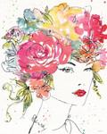 Floral Figures I Wall Art Print