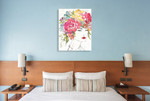 Floral Figures I Wall Art Print on the wall