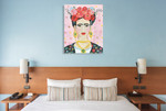 Homage to Frida Wall Art Print on the wall