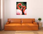 Flamingo II Wall Art Print on the wall