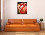 Flamingo III Wall Art Print on the wall