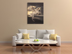 Pegasus With Roses Wall Art Print on the wall
