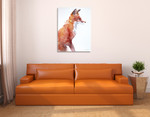 Sly As A Fox Wall Art Print on the wall