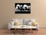 Wild Horses Wall Art Print on the wall