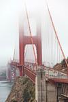 Golden Gate Bridge in Fog Wall Art Print