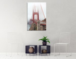 Golden Gate Bridge in Fog Wall Art Print on the wall
