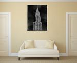 New York Chrysler Building Wall Art Print on the wall