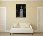 New York Empire State Wall Art Print on the wall