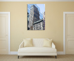 Skyscraper Reflections New York Wall Art Print on the wall