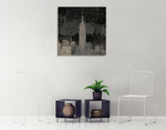 Vintage New York in Black I Wall Art Print on the wall