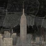 Vintage New York in Black I Wall Art Print