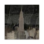 Vintage New York in Black II Wall Art Print