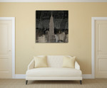 Vintage New York in Black II Wall Art Print on the wall