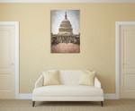 Washington DC Vintage Capitol Wall Art Print on the wall