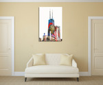 Willis Tower Chicago Wall Art Print on the wall