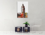Wrigley Building Chicago Wall Art Print on the wall