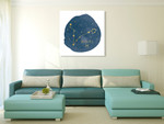 Horoscope Pisces Wall Art Print on the wall
