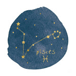Horoscope Pisces Wall Art Print