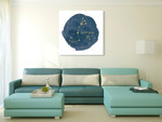 Horoscope Scorpio Wall Art Print on the wall