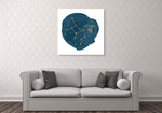 Horoscope Virgo Wall Art Print on the wall
