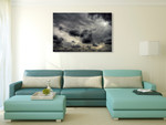 Storm Clouds Wall Art Print on the wall