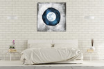 The Blue Full Moon Wall Art Print on the wall