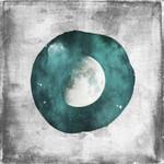 The Teal Half Moon Wall Art Print
