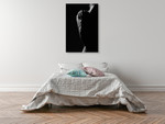 Black and White Shadows Wall Art Print on the wall