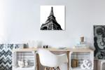 High Eiffel Tower Wall Art Print on the wall