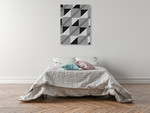 Linear Motion I Wall Art Print on the wall
