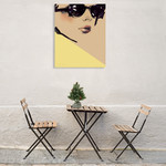 Chic Wall Art Print on the wall