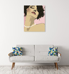 Diva I Wall Art Print on the wall