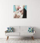 Fashionable Kiss III Wall Art Print on the wall