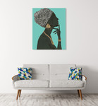 Graceful Majesty I Turquoise Wall Art Print on the wall