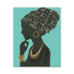 Graceful Majesty II Turquoise Wall Art Print