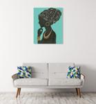 Graceful Majesty II Turquoise Wall Art Print on the wall