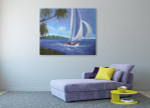 Yacht on the wall