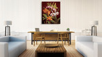 Orchid Trio II Wall Art Print on the wall