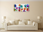 Playful Blossom Wall Art Print on the wall