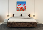 Poppy Meadow II Wall Art Print on the wall