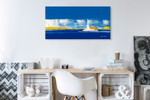 New York in Blue Wall Art Print on the wall
