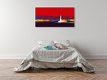 New York in Red Wall Art Print on the wall