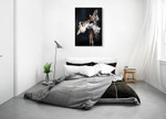 Butterfly Ballet Wall Art Print on the wall