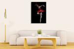 Flamingo Dancer Wall Art Print on the wall
