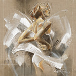 White Dress I Wall Art Print