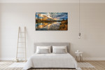 Clouds And River Wall Art Print on the wall