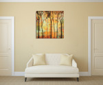 Magical Forest I Wall Art Print on the wall