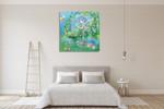 The Fairy Garden Wall Art Print on the wall